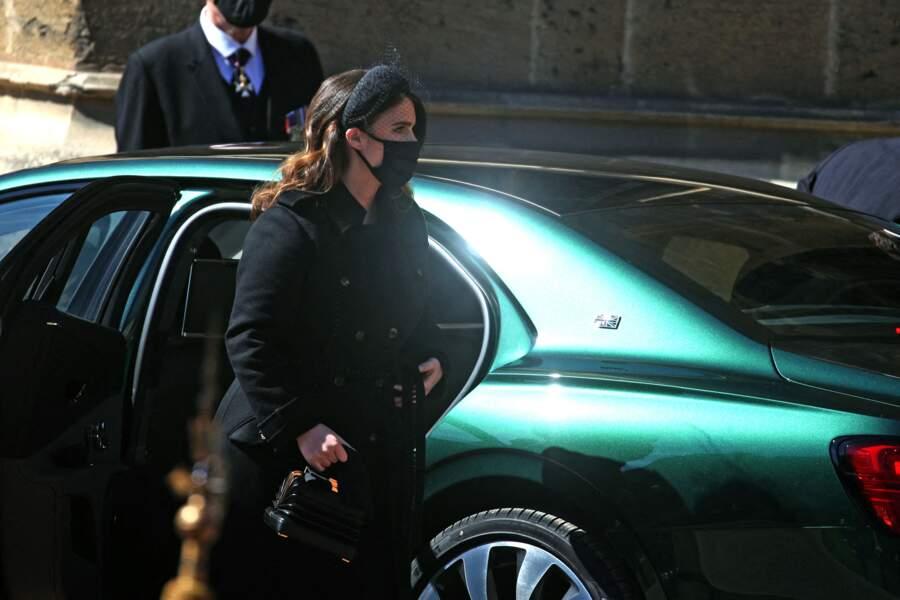 Eugenie d'York arrive au château de Windsor pour les funérailles du prince Philip