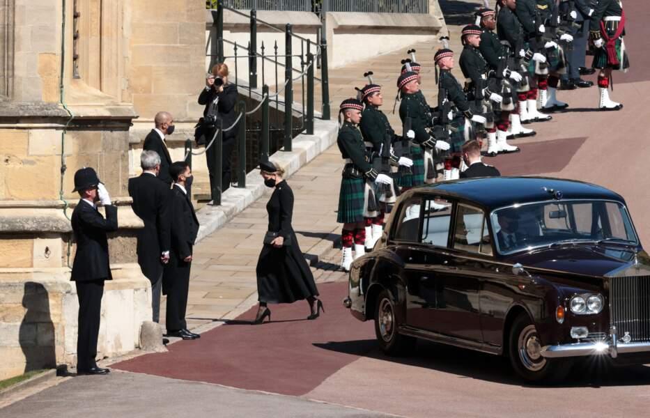 Sophie de Wessex arrive au château de Windsor