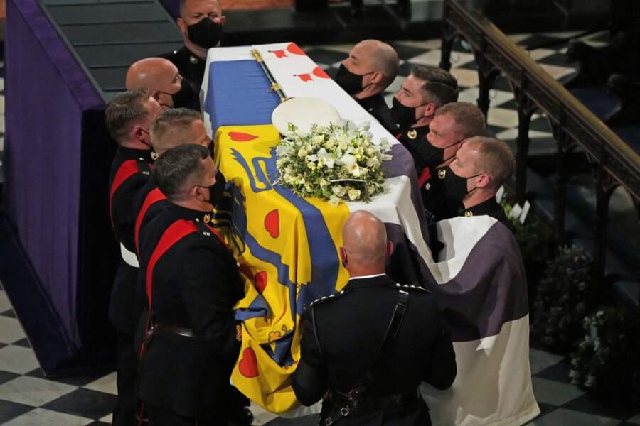 Le cercueil du prince Philip en la chapelle Saint George