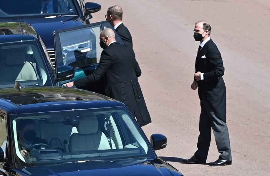 Le prince Heinrich Donatus de Hesse arrive au château de Windsor