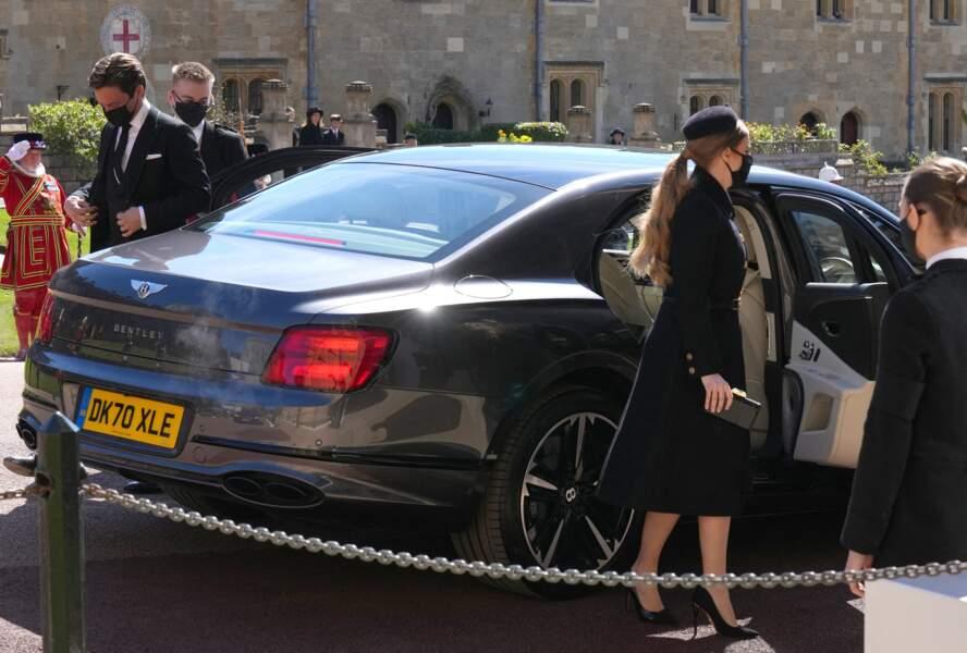 Beatrice d'York et son mari Edoardo Mapelli Mozzi aux obsèques du prince Philip