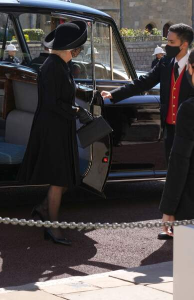 Camilla Parker Bowles au château de Windsor ce samedi 17 avril 2021
