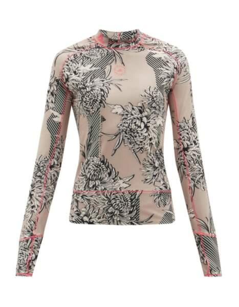 Haut en fibres recyclées True Purpose, Adidas x Stella McCartney, 75€ sur matchesfashion.com