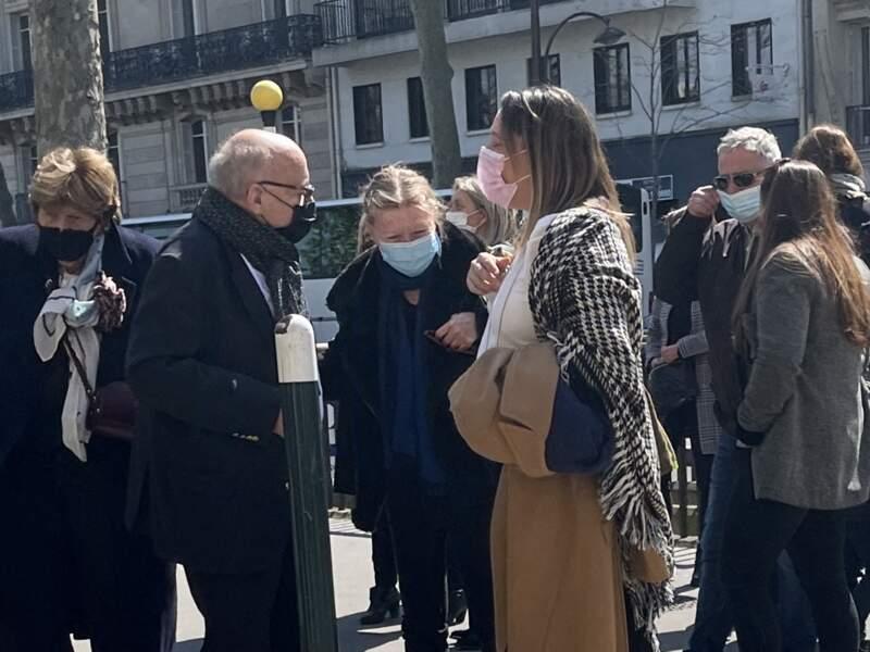 Patrick Laroche-Joubert, le père d'Alexia Laroche-Joubert, aux obsèques d'Andreas, à l'église aint-Pierre de Neuilly-sur-Seine, le 19 avril 2021.