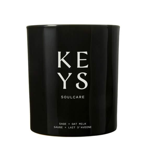 Bougie sauge et lait d'avoine, Keys Soulcare, 38 €, nocibe.fr