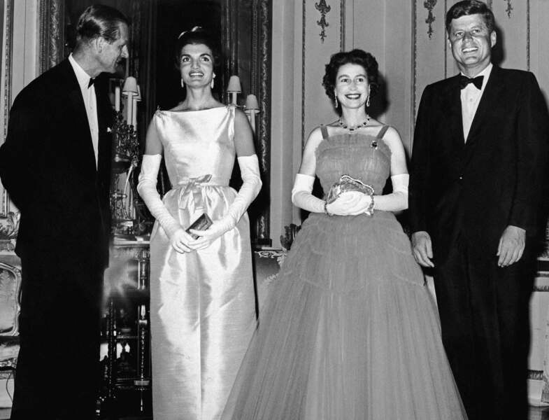 Elizabeth II et les Kennedy