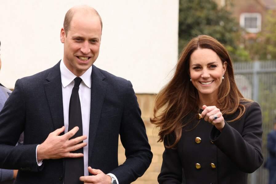 Le prince William et Kate Middleton retrouvent le sourire après les obsèques du prince Philip