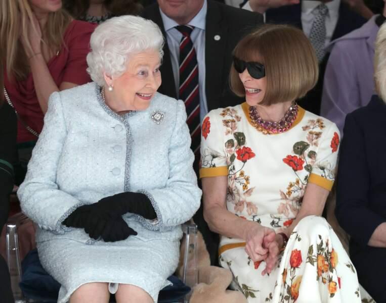 Elizabeth II et Anne Wintour