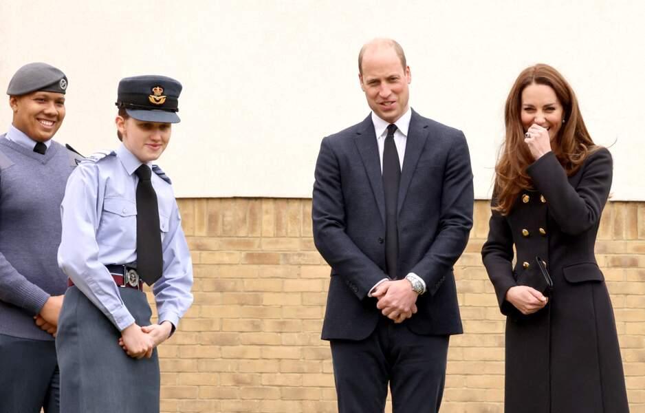 Les Cambridge lors de leur première sortie après les obsèques du prince Philip, ce mercredi 21 avril à Londres