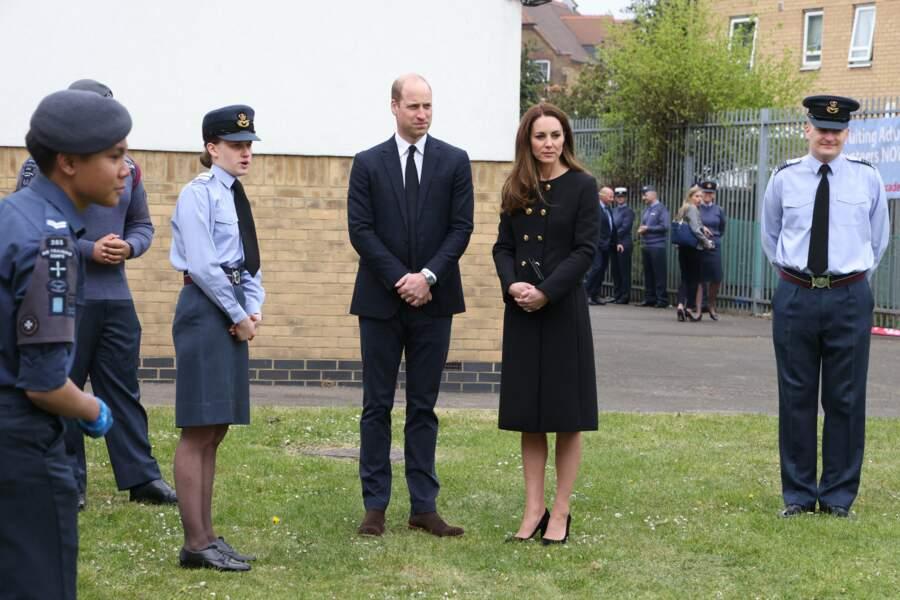 Kate Middleton et le prince William ont rendu visite aux soldats de l'armée de l'air ce 21 avril à Londres