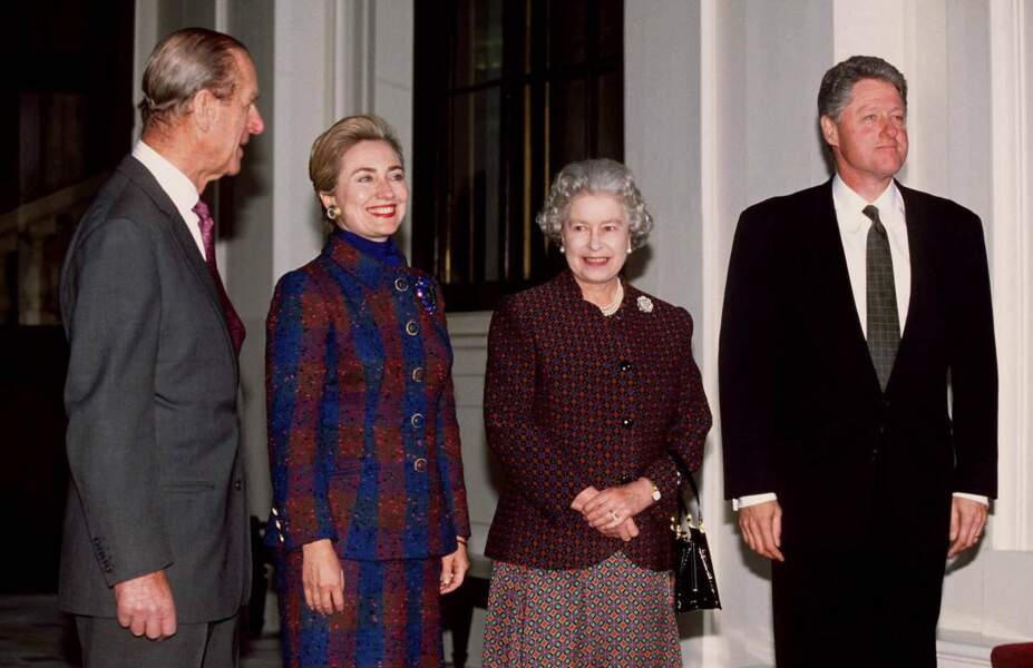 Elizabeth II et les Clinton