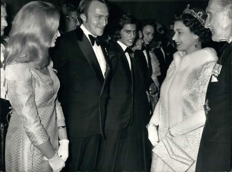 Elizabeth II et Christopher Plummer