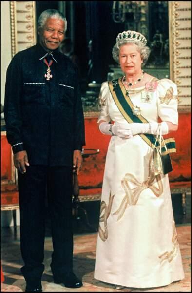 Elizabeth II et Nelson Mandela