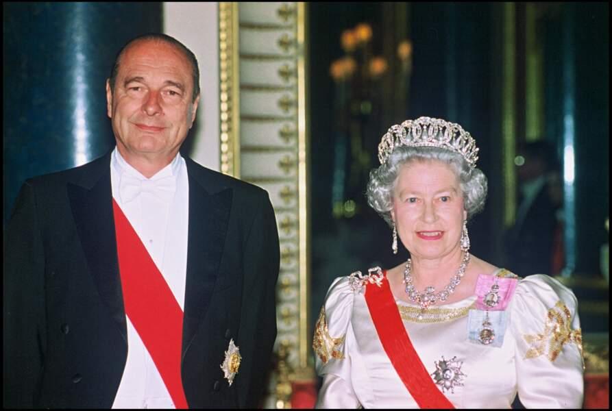 Elizabeth II et Jacques Chirac