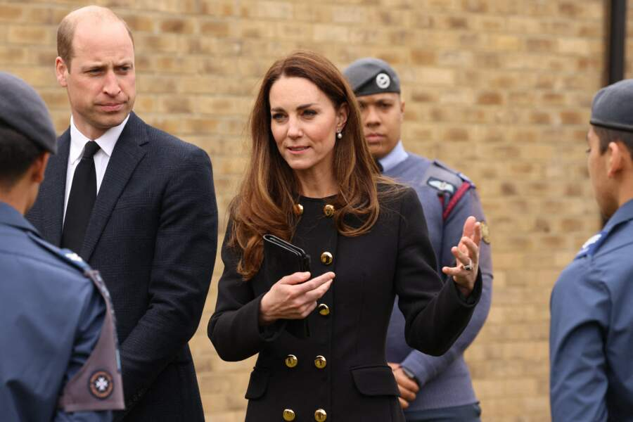 Kate Middleton à la RAF Air Cadets à Londres, le 21 avril 2021