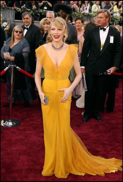 Michelle Williams et son chignon flou aux Oscars 2006