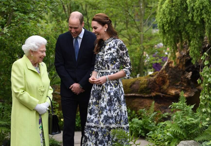 La reine Elisabeth II, le prince William et Kate Middleton, à Londres, le 20 mai 2019.