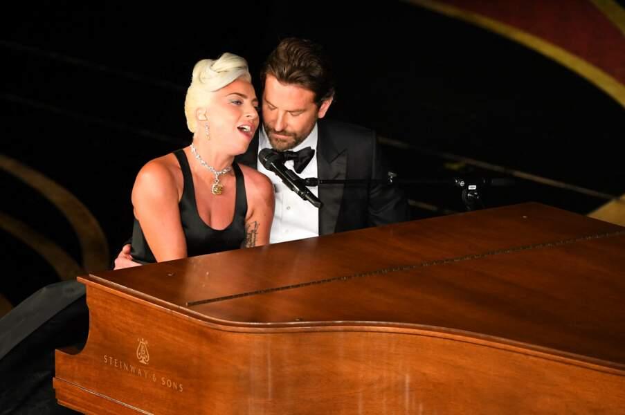 Lady Gaga et Bradley Cooper lors de la 91e cérémonie des Oscars.