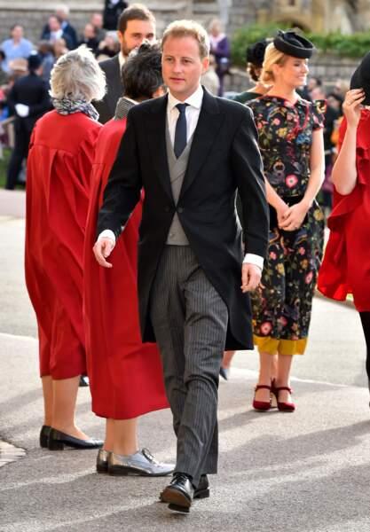 Guy Pelly au mariage de princesse Eugenie et Jack Brooksbank, le 12 octobre 2018