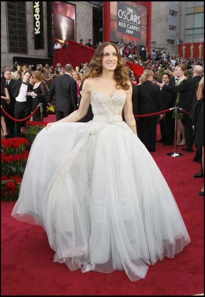 Sarah Jessica Parker et son brushing bouclé, aux Oscars 2009