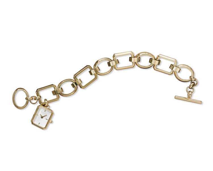 Montre bracelet dorée, 159€, Rosefield