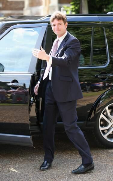 James Meade, à la sortie du baptême de la princesse Charlotte, le 5 juillet 2015