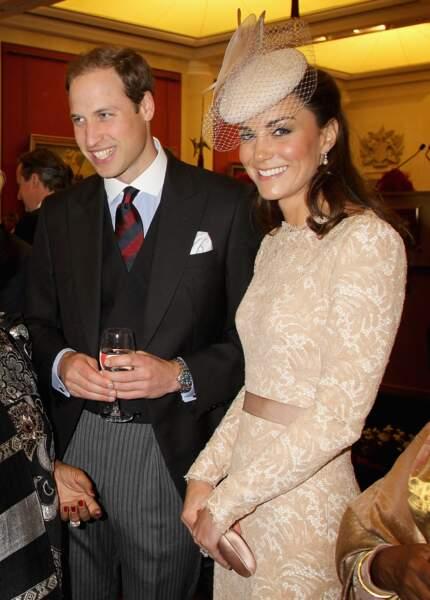 Kate Middleton et William, en juin 2012, à Londres