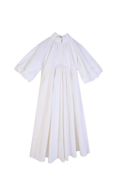 Robe donatienne seersucker blanc merlu, 180€, Kerners