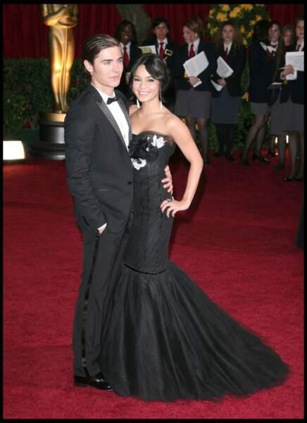 Zac Efron et Vanessa Hudgens lors de la 81e cérémonie des Oscars.