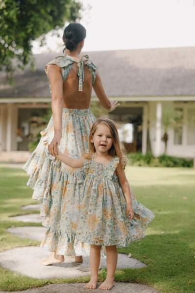 Collection mère-fille Marcelle de Magali Pascal, à partir de 249 € robes de femme et 69 € robe enfant.
