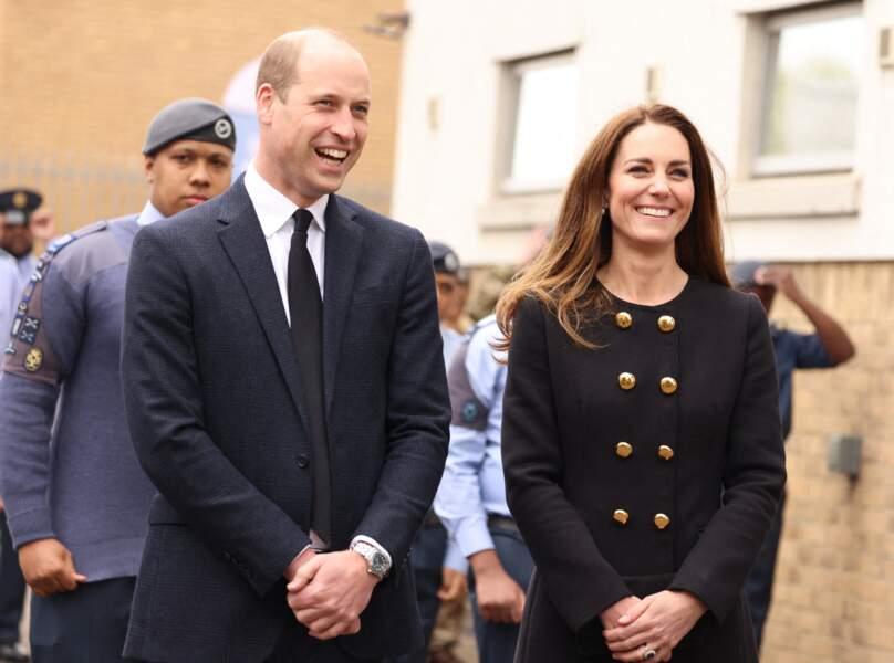 Le prince William et Kate Middleton visitent le centre RAF Air Cadets à Londres, le 21 avril 2021.