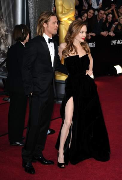 Angelina Jolie and Brad Pitt lors de 84e cérémonie des Oscars.