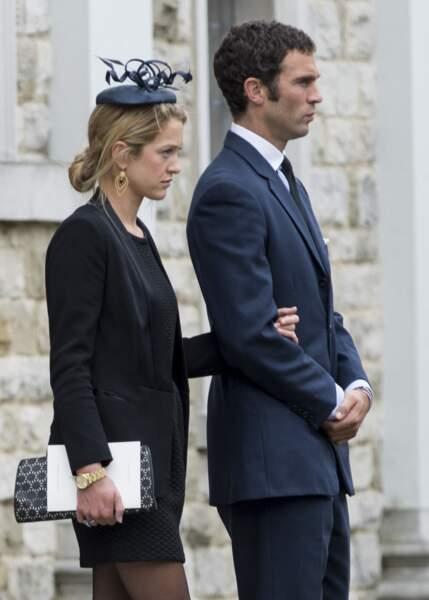 Hugh Van Cutsem Jr et son épouse Rose Astor, aux obsèques de leur père, le 11 septembre 2013