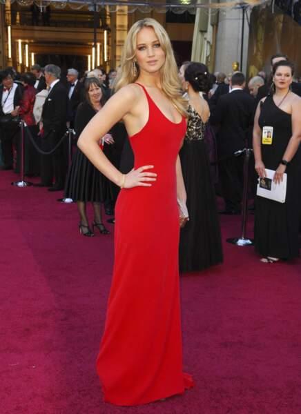 Jennifer Lawrence et son brushing glamour aux Oscars 2011