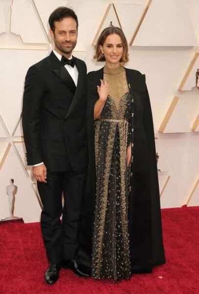 Benjamin Millepied et Natalie Portman lors de la 92e cérémonie des Oscars.