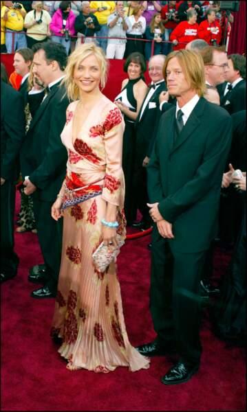 Cameron Diaz et son chignon coiffé décoiffé, aux Oscars 2002
