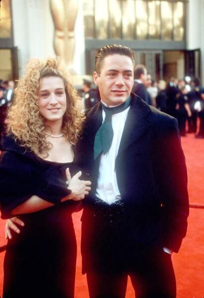 Sarah Jessica Parker et Robert Downey Jr lors de la 61e cérémonie des Oscars.