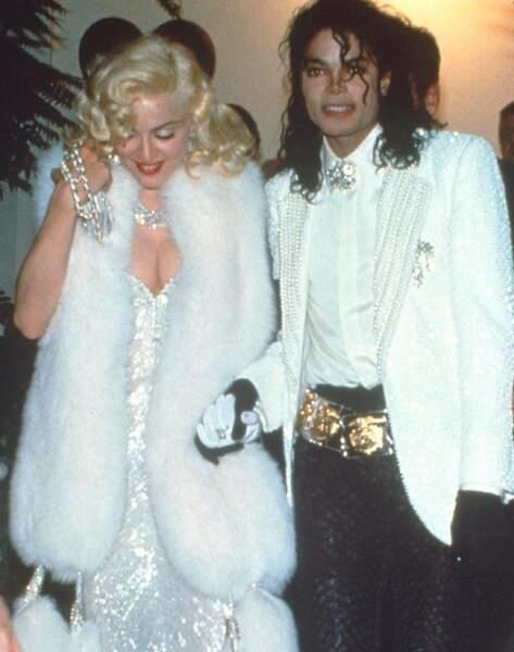 Madonna et Michael Jackson lors de la 63e cérémonie des Oscars.
