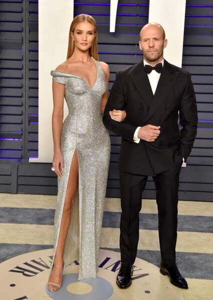 Rosie Huntington-Whiteley et Jason Statham lors de la 91e cérémonie des Oscars.