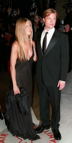 Jennifer Anniston et Brad Pitt lors de la 72e cérémonie des Oscars