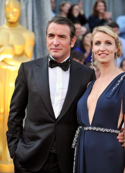 Jean Dujardin et Alexandra Lamy lors de la 84e cérémonie des Oscars.