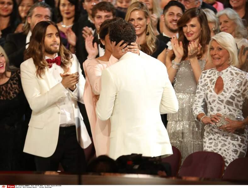 Matthew McConaughey et Camila Alves lors de la 86e cérémonie des Oscars.