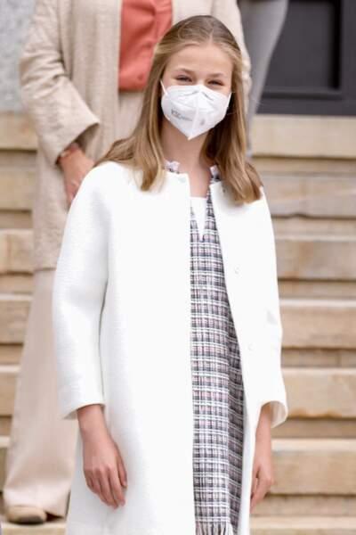 La princesse Leonor d'Espagne, ce 22 avril à l'inauguration du sous-marin Isaac Peral à Carthagène en Espagne