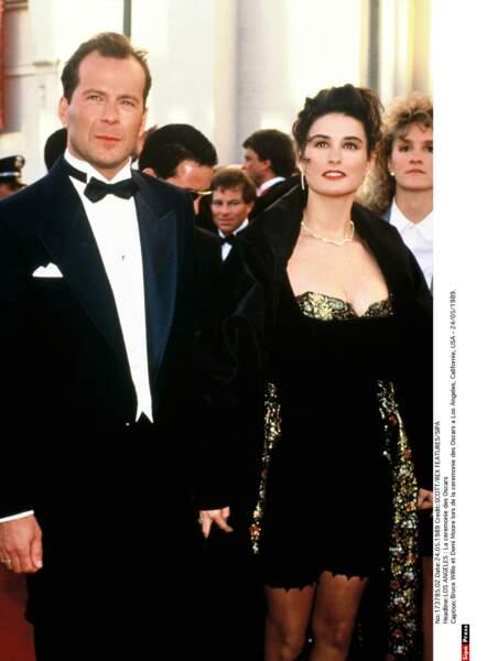 Bruce Willis et Demi Moore lors de la 61e cérémonie des Oscars.