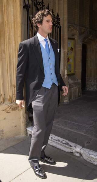 Rupert Finch lors de son mariage avec Lady Rufus Isaacs Natasha a Cirencester, le 8 juin 2013
