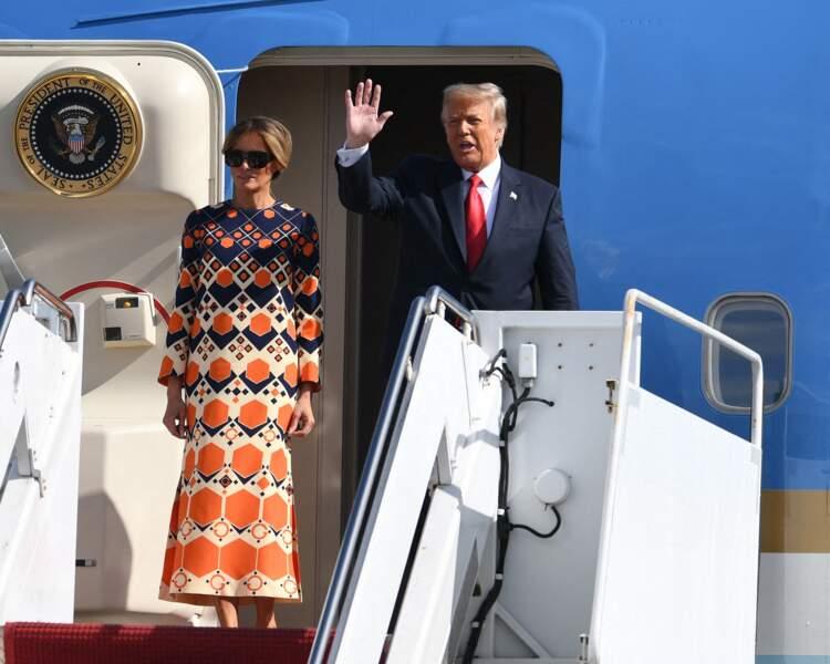 Melania Trump à Palm Beach le 20 janvier 2021.