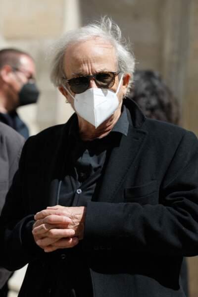 Patrick Chesnais ce lundi 26 avril aux obsèques de Myriam Colombi à Paris