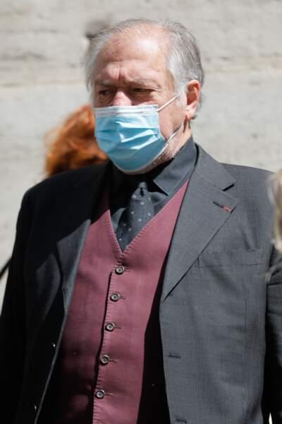 L'acteur Pierre Santini aux obsèques de Myriam Colombi ce lundi 26 avril à Paris