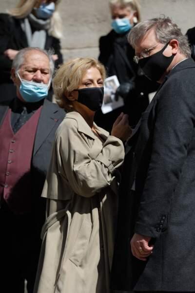 Corinne Touzet aux obsèques de Myriam Colombi à Paris