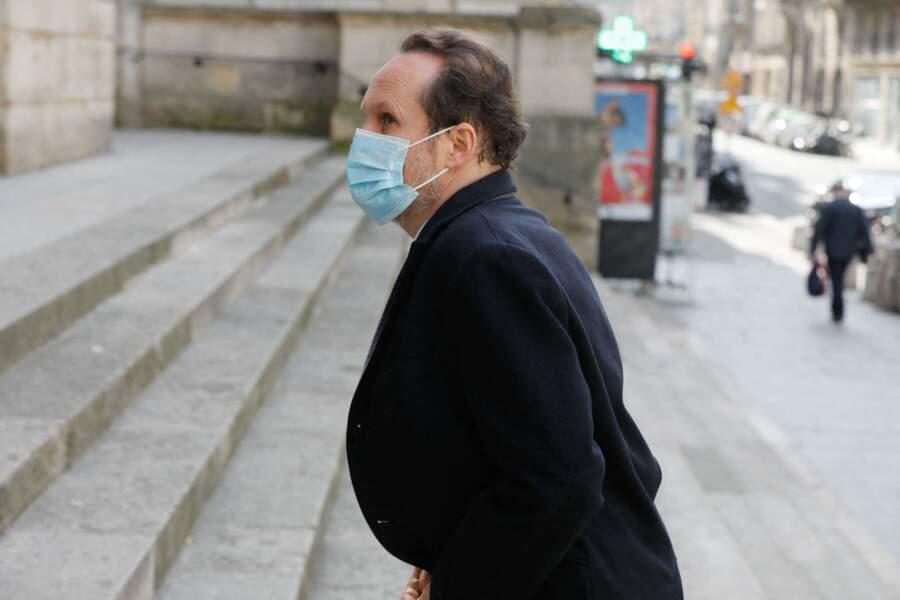 Le producteur Jean-Marc Dumontet a fait le déplacement jusqu'à l'église Saint-Roch à Paris pour les obsèques de Myriam Colombi